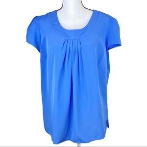 Lands' End Short Sleeve Pullover Blouse Size 14
